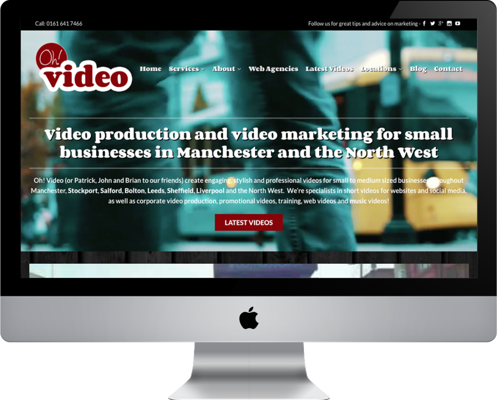 web design and set for Manchester production company