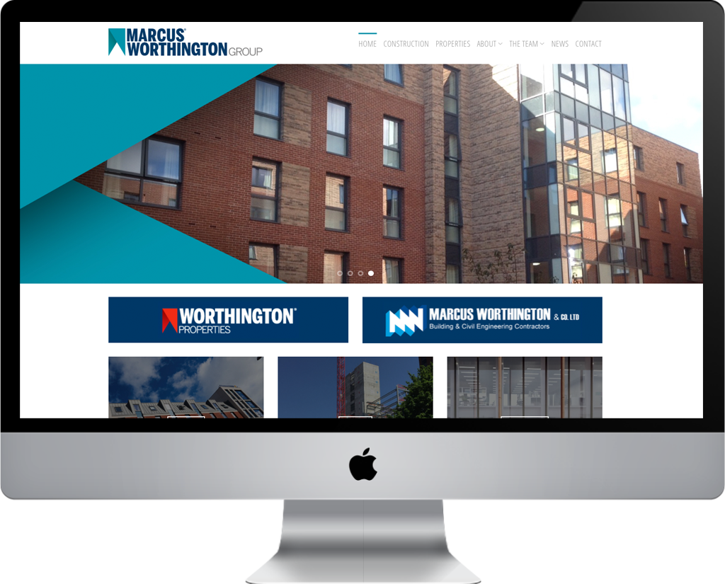 web design and support for Marcus Worthington Group