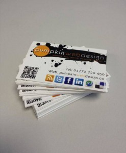 Pumpkin Web Design Preston Business Cards