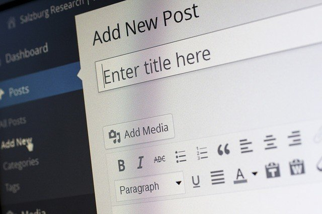 picture of a wordpress blog for off page SEO