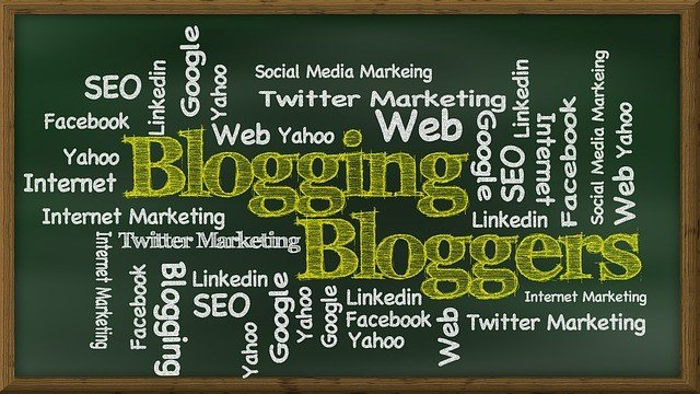 This is a picture of many things associated with blogging