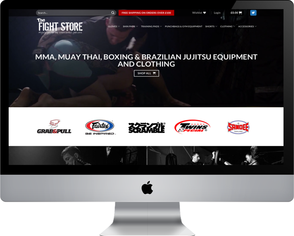 web design for the fight store